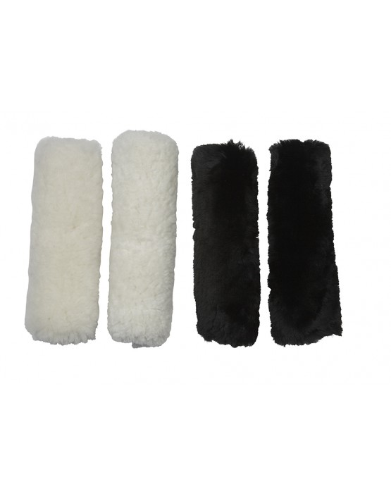 Sheepskin Cheek Pieces or French Blinkers
