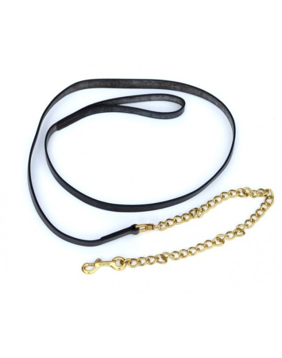 Leather Lead Rein and Chain