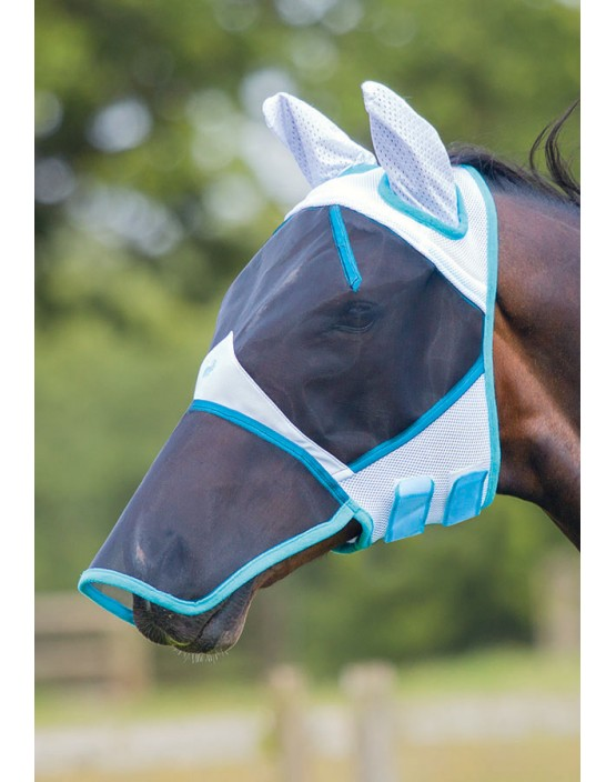 Bridleway Full Face Fly Mask with Ears & Nose